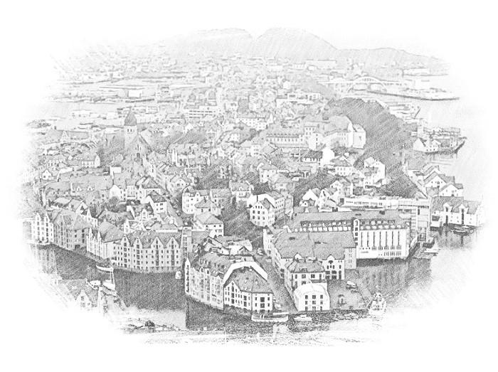 Городок в Норвегии