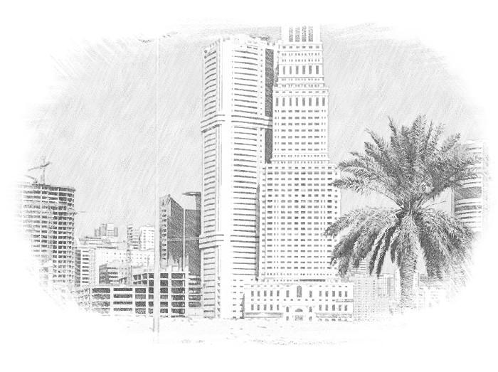 Многоэтажки Дубая