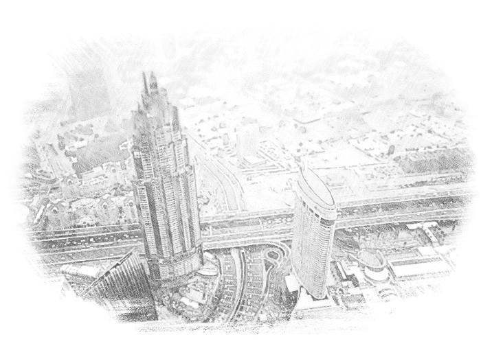 Город Дубай с высоты