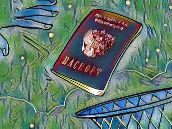 Паспорт в корзину