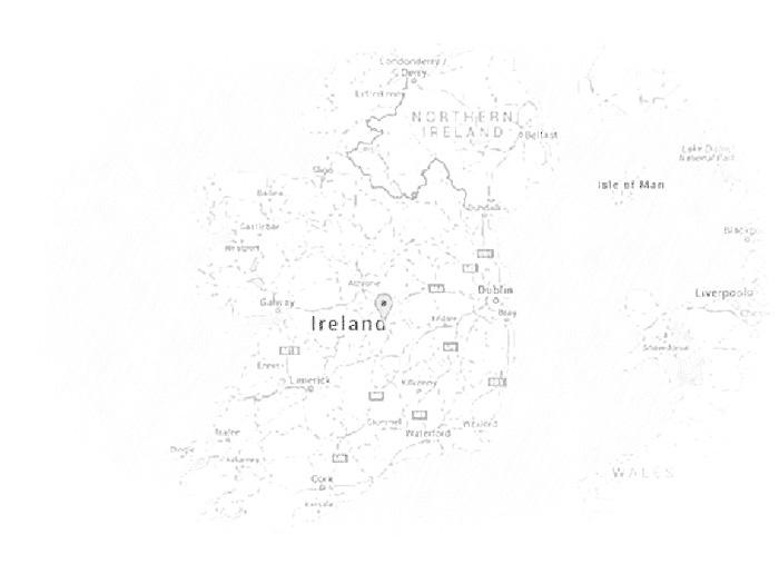 Расположение Ирландии