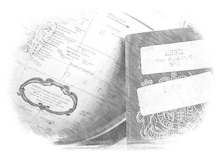 Глобус и паспорт