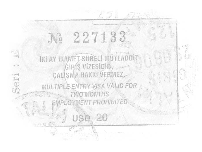 Разрешение в Турцию